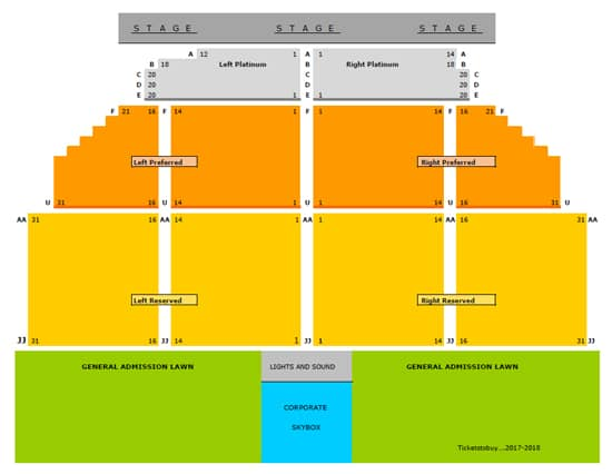 gold circle seating chart 2018